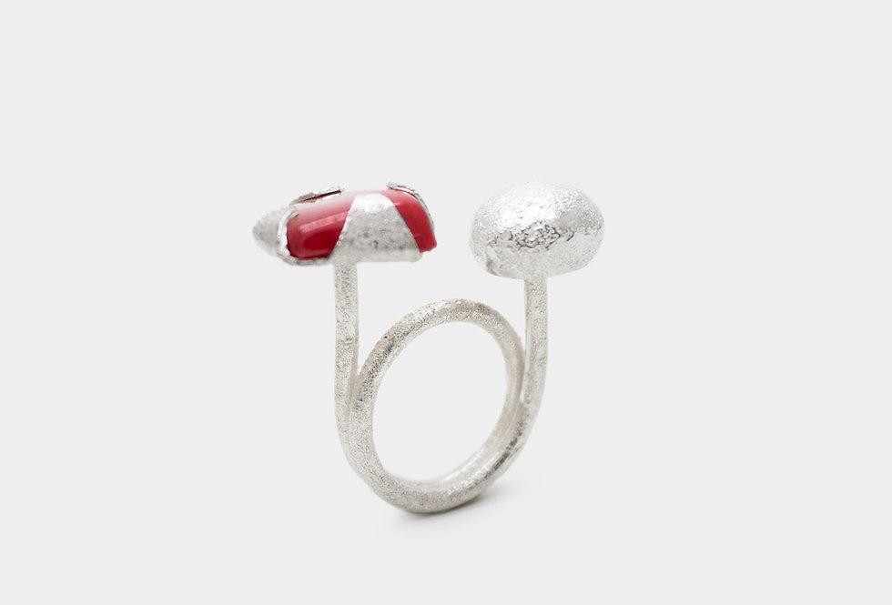 Paula Vieira Jewellery Granate Silver Ring