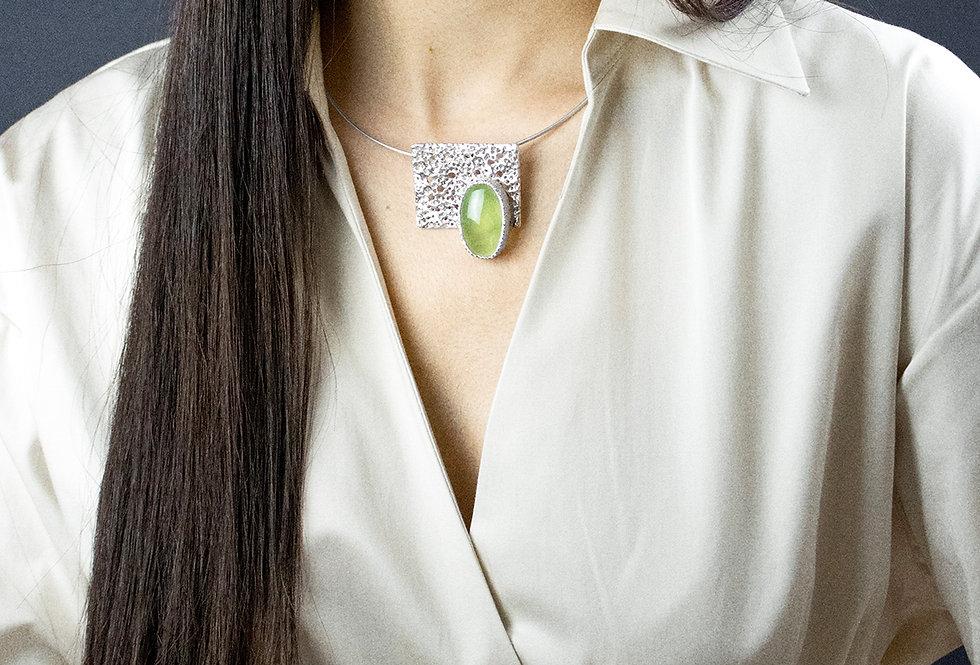Paula Vieira Jewellery Prehnite Silver Necklace