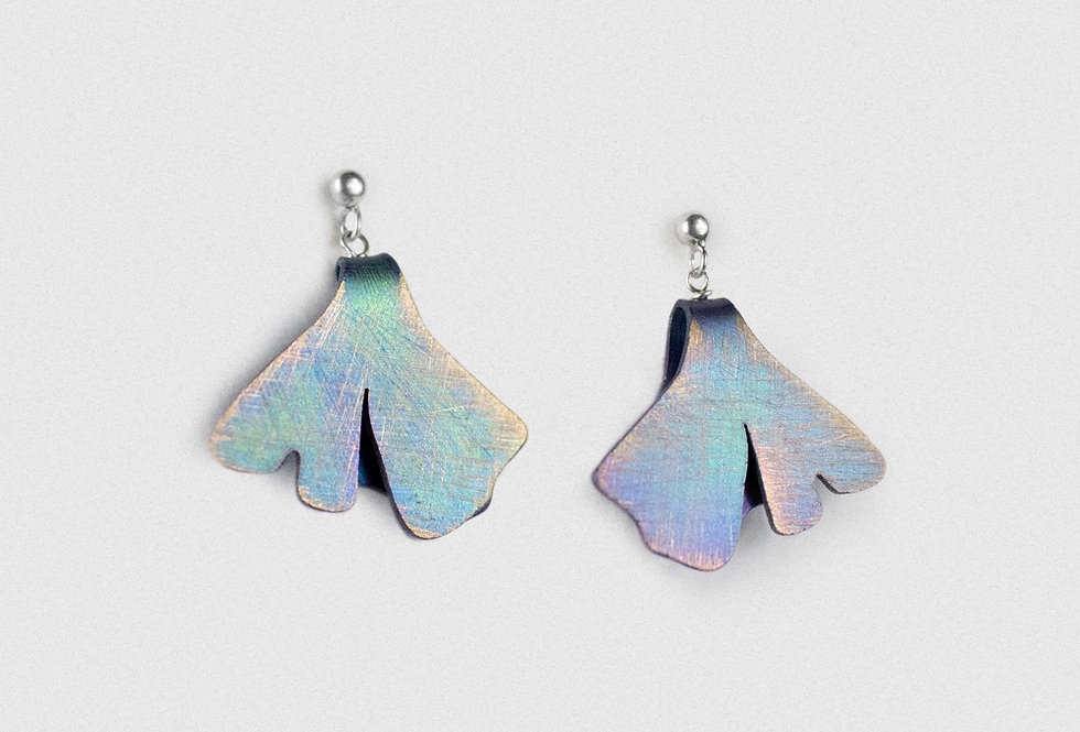 Paula Vieira Jewellery Anodised Titanium Earrings
