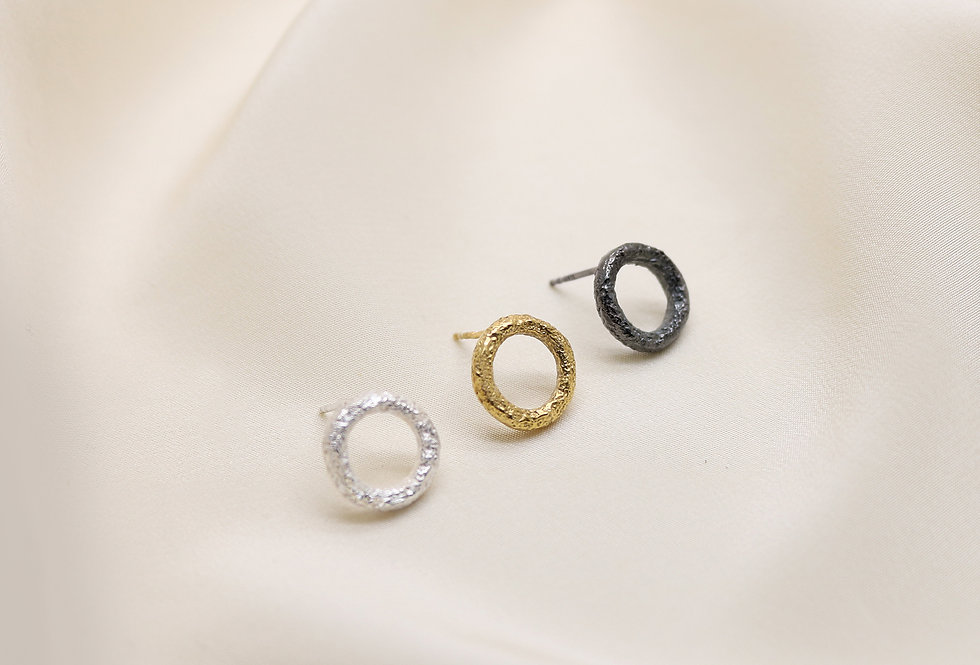 Wabi Mini Silver Earrings