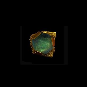 Paula Vieira Jewellery 19.2k Gold Ring and Fluorite