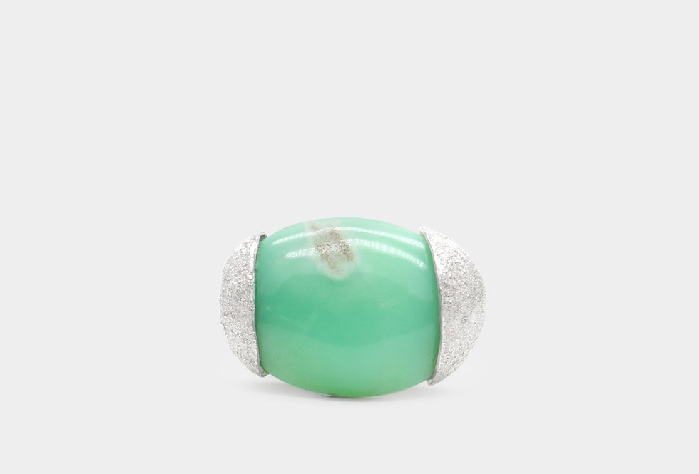 Paula Vieira Jewellery Crisopraz Silver Ring