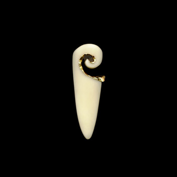 Paula Vieira Jewellery 19.2k Gold Brooch and Bone