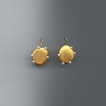 Paula Vieira Jewellery 19.2k Gold Earrings and Pearls