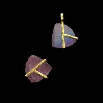 Paula Vieira Jewellery 19.2k Gold Pendants and Tourmaline
