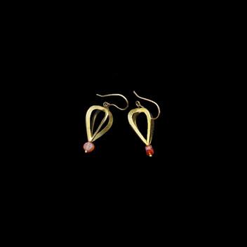Paula Vieira Jewellery 19.2k Gold Earrings and Carnelian