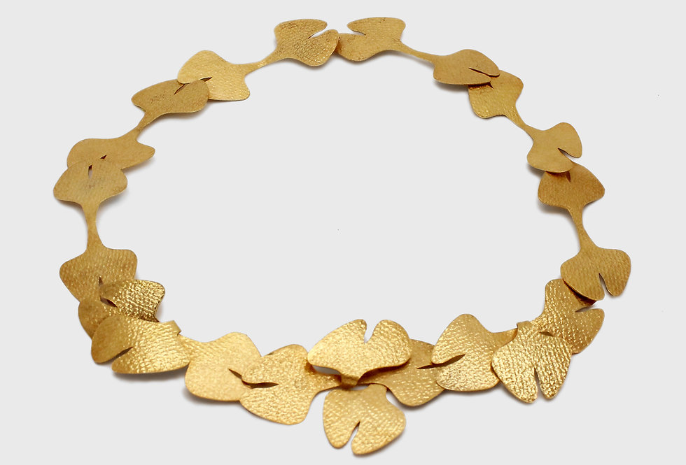 Seaflower Gold Plated Silver Necklace