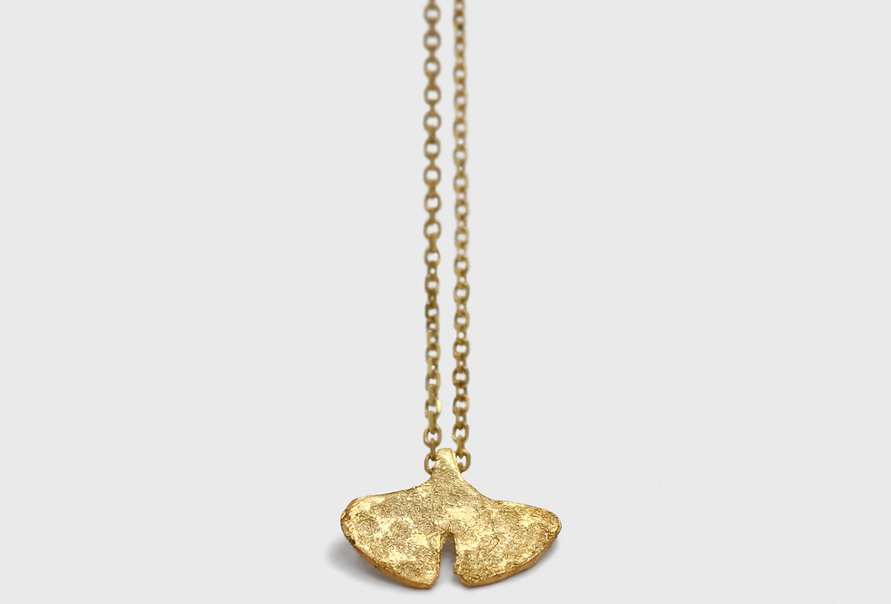 Seaflower Ginkgo Gold Plated Silver Necklace