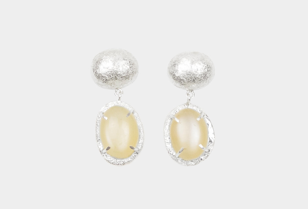 Paula Vieira Jewellery Moonstone Silver Earrings