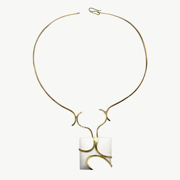 Paula Vieira Jewellery 19.2k Gold Necklace and Cacholong