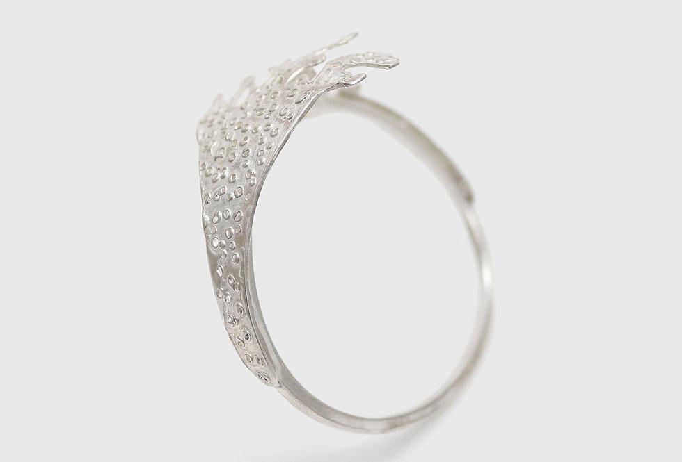 Vulcana Textured Silver Bracelet