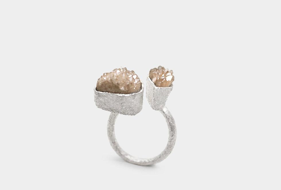 Paula Vieira Jewellery Angel Quartz Silver Ring