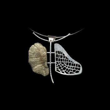 Paula Vieira Jewellery 925 Silver Pendant and Pyrite