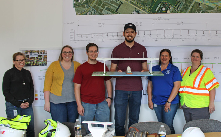 Visit from team members at INDOT.