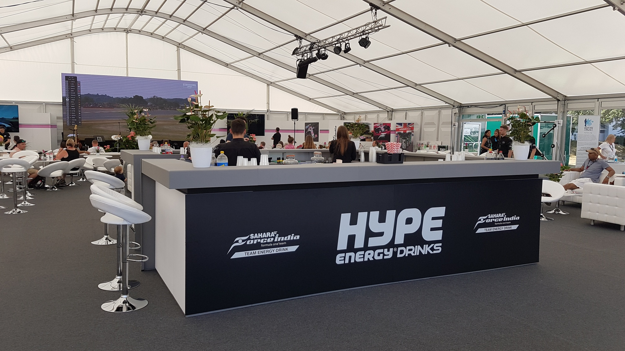 Hype Energy Drinks branded bar - July 20
