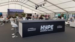 Hype Energy Drinks branded bar - July 20