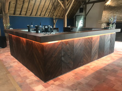 Chevron Wood Front on Island Bar