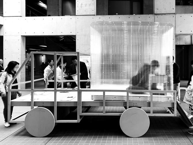 理工展2019にてモバイルハウス《CROSS WAVE HUT》を展示しています