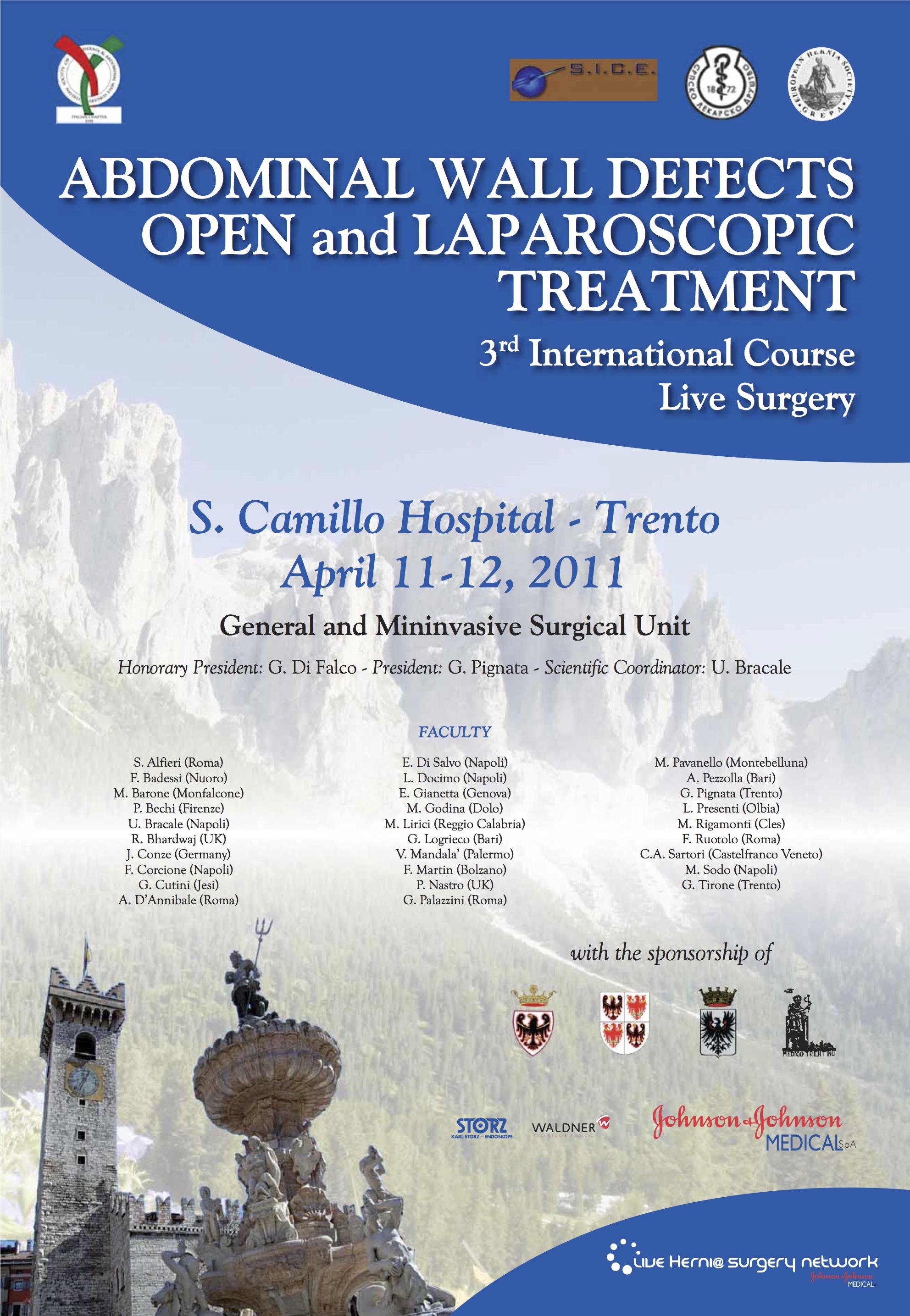 Locandina S. Camillo H (Trento) 2011