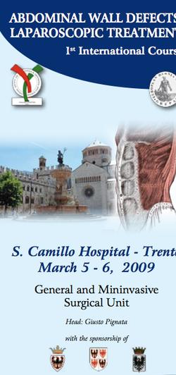 Abdominal wall defects laparoscopic