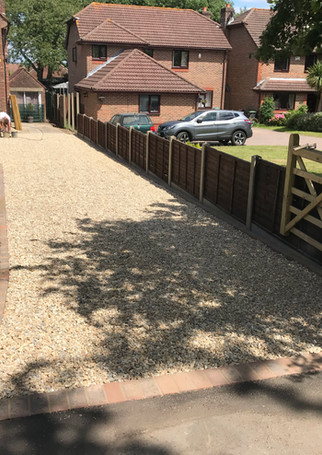 Gravel Driveway with brick edging