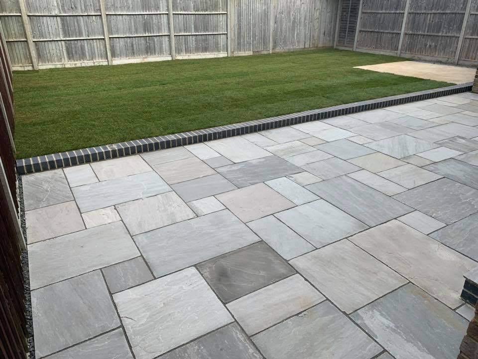 Sandstone patio Chichester