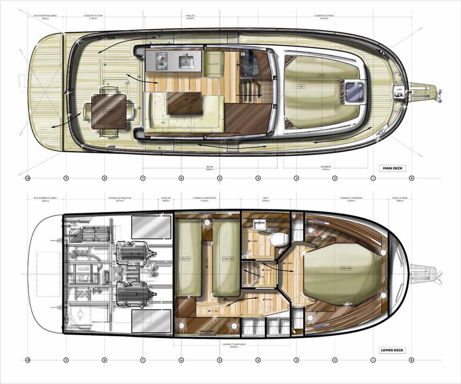 Sasga 34 Menorquin new layout