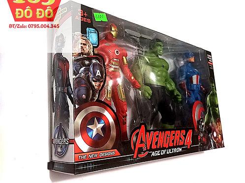 Hộp mô hình 3 siêu anh hùng