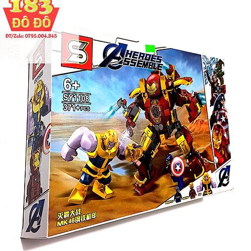 Lego Lắp ráp Người sắt chiến đấu Heroes Assembke 1108 - 371 chi tiết