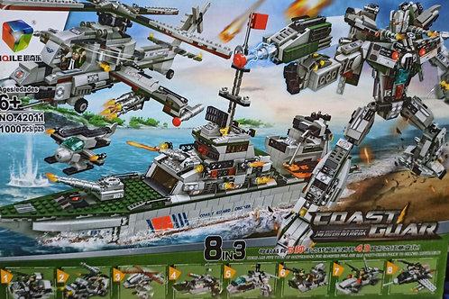 lego 8in3 1000 chi tiết tầu chiến người máy