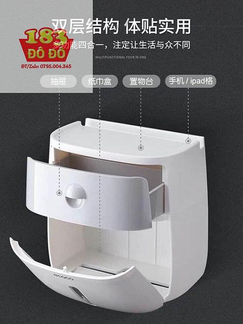 Hộp đựng giấy vệ sinh có ngăn kéo đựng đồ Ecoco