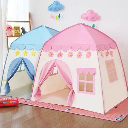 Lều công chúa đồ chơi cho bé kiểu dáng ngôi nhà hoa hồng trăng sao