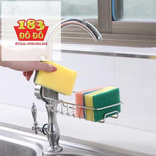 Giá treo giẻ rửa bát inox tại bồn