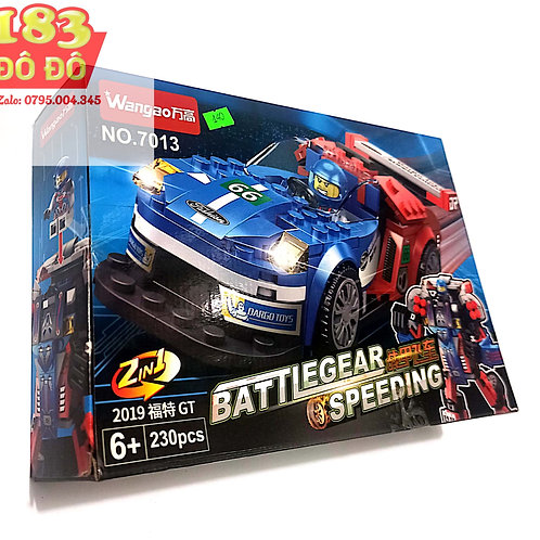 Lắp ráp xếp hình Lego  Robot và xe oto đua 2 in 1 230 chi tiết