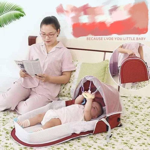 Nôi ngủ chung giường cho bé gấp gọn tiện lợi