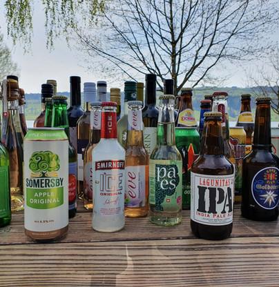 grosse Bier und Most-Auswahl