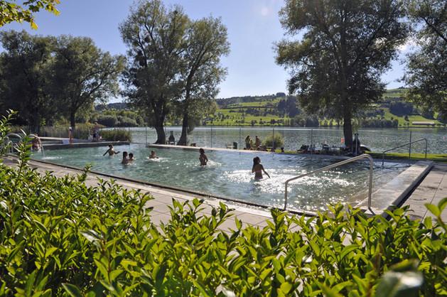 Das neue Becken des Seebad Baldegg
