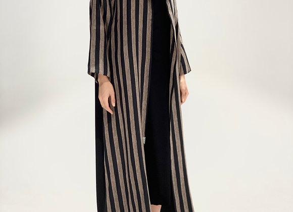 Black and Beige Abaya - Two Toned