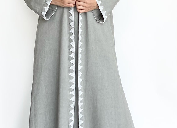 Grey Abaya with Beaded Details