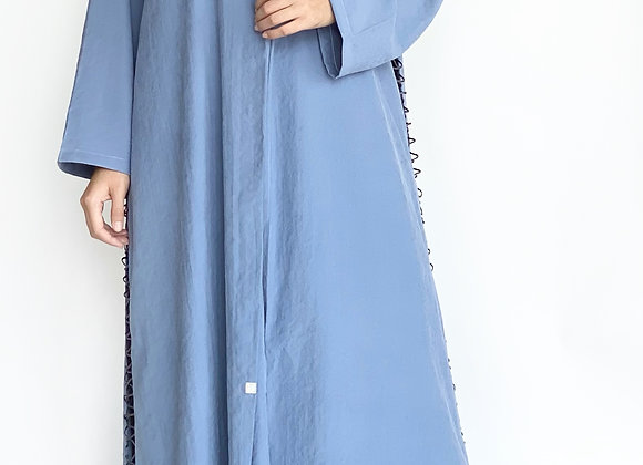 Navy Blue Cotton Abaya