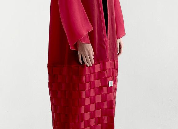 Red Organza Abaya