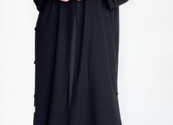Black Linen Jacket Abaya