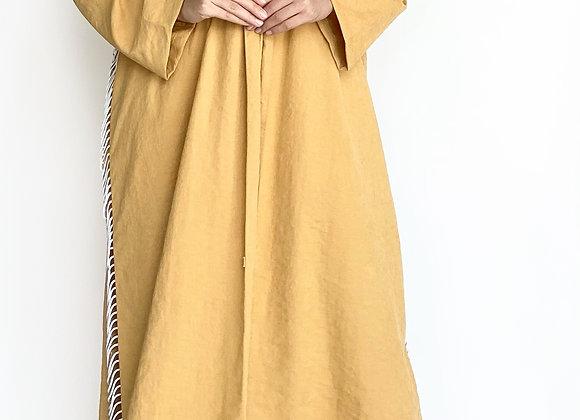 Mustard Abaya with Details