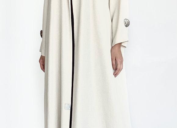 Linen Abaya in Cream