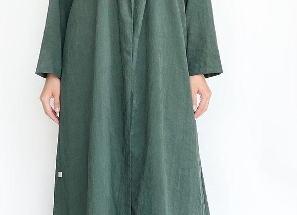 Dark Green Cotton Abaya