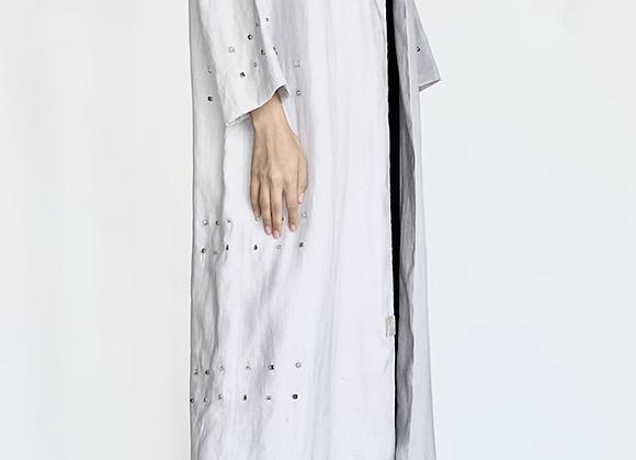 Light Grey Linen Abaya