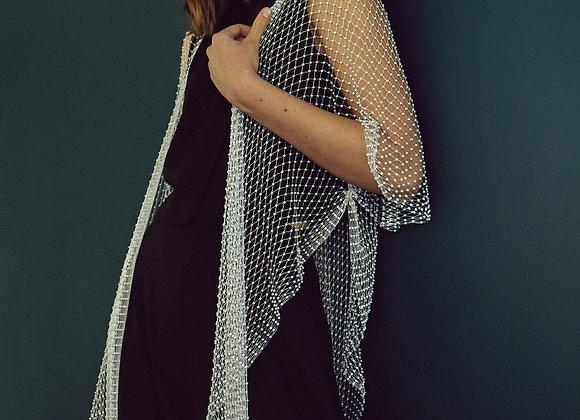 White Mesh Abaya