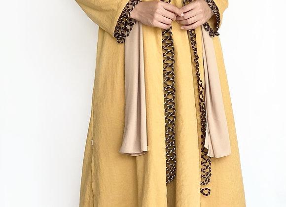 Mustard Cotton Abaya