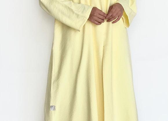 Yellow Cotton Abaya