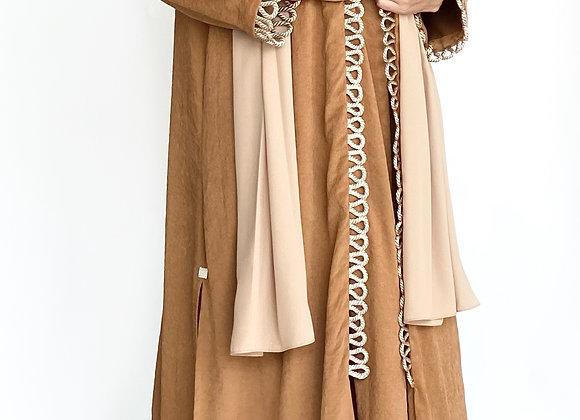 Brown Cotton Abaya